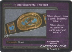 Intercontinental Title Belt